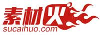 素材火logo